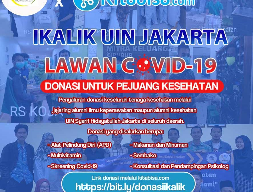 Galang Donasi Melalui Kitabisa, IKALIK UIN Jakarta Ajak Masyarakat Lawan Covid-19