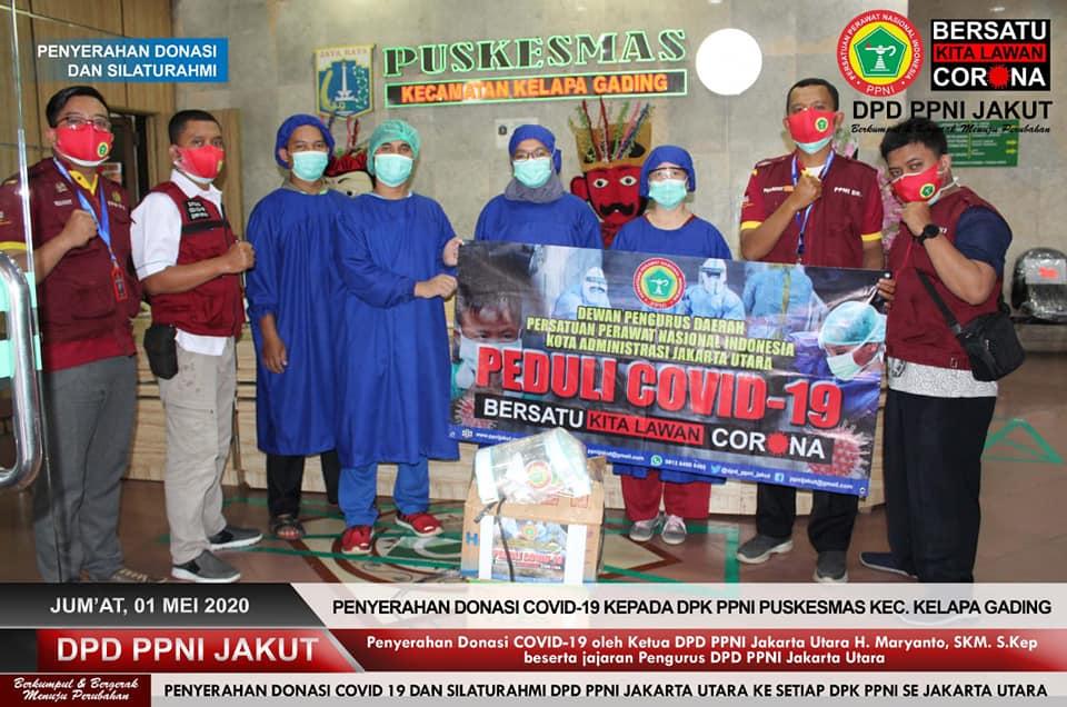 Advokasi Sejawat Perawat Saat Wabah Covid-19, PPNI Jakarta Utara Menyalurkan APD, Multivitamin dan Mengadakan Rapid Test untuk Anggota.